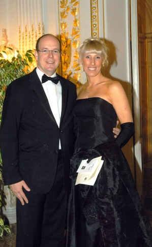 Prince Albert II and Tracy Mattes at the Palac...