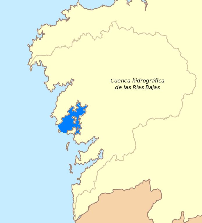 Mapa De Rias Bajas.Ria De Arousa Wikipedia