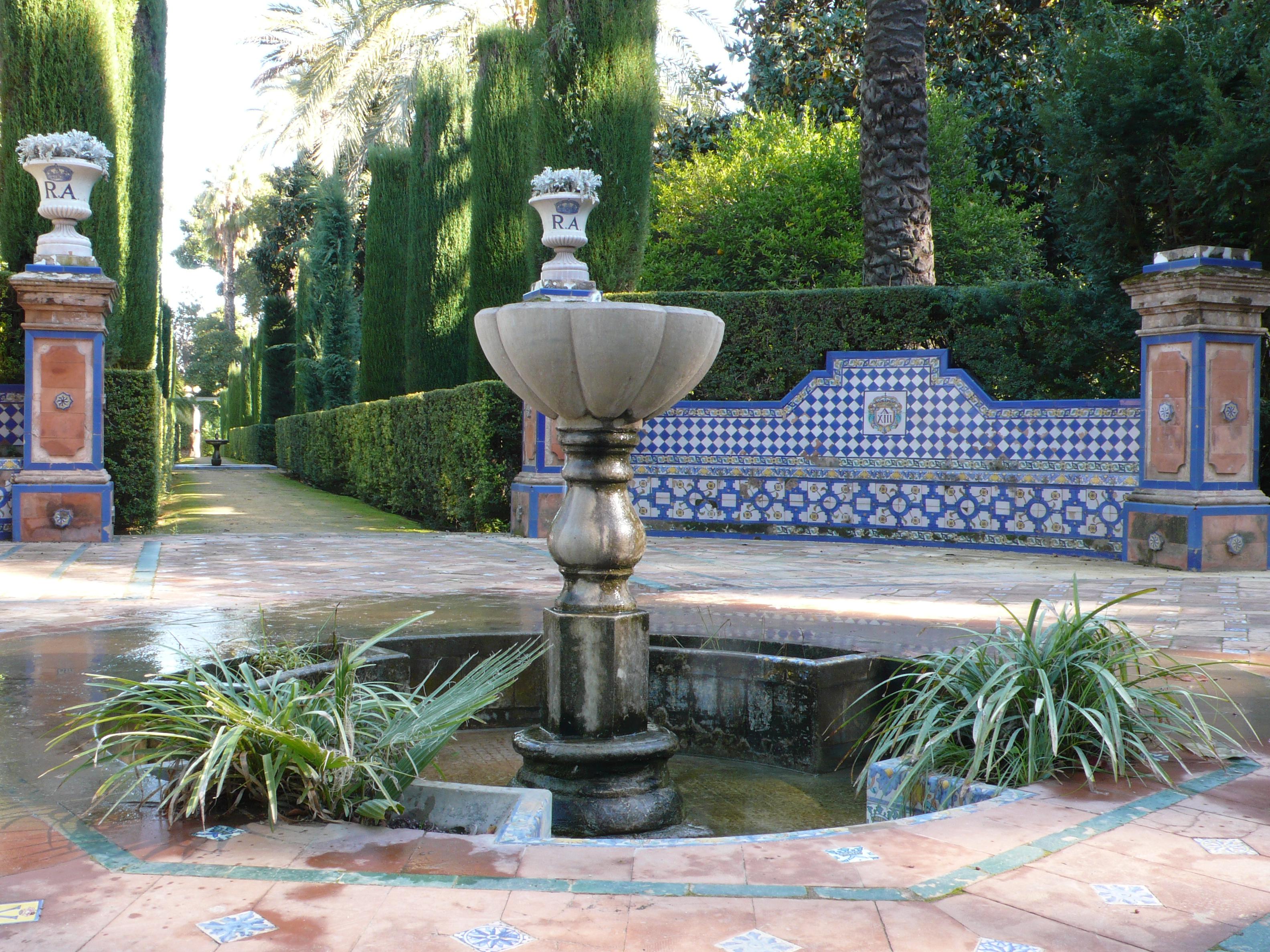 File reales alc zares de sevilla wikimedia commons - Jardines de sevilla ...