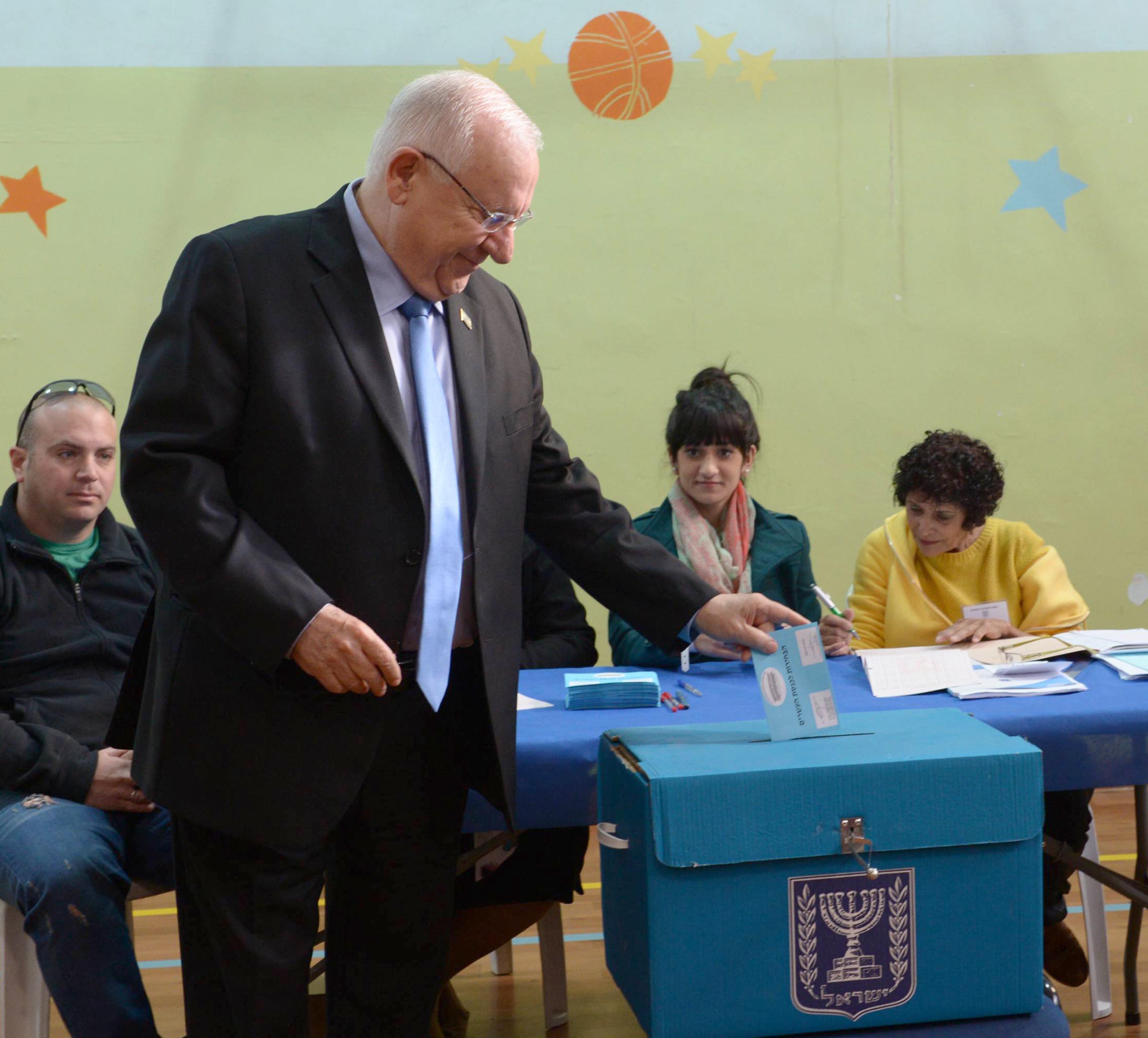 הנשיא ריבלין בבחירות 2015