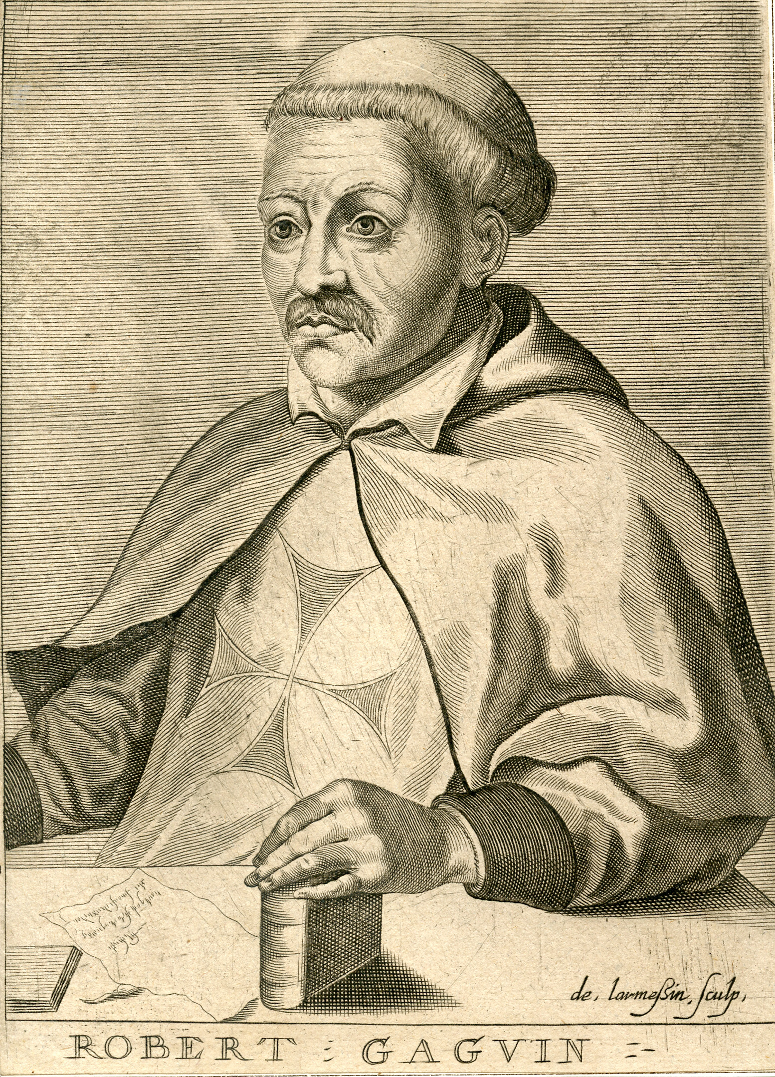Robert Gaguin; 17th century engraving by Nicolas III de Larmessin