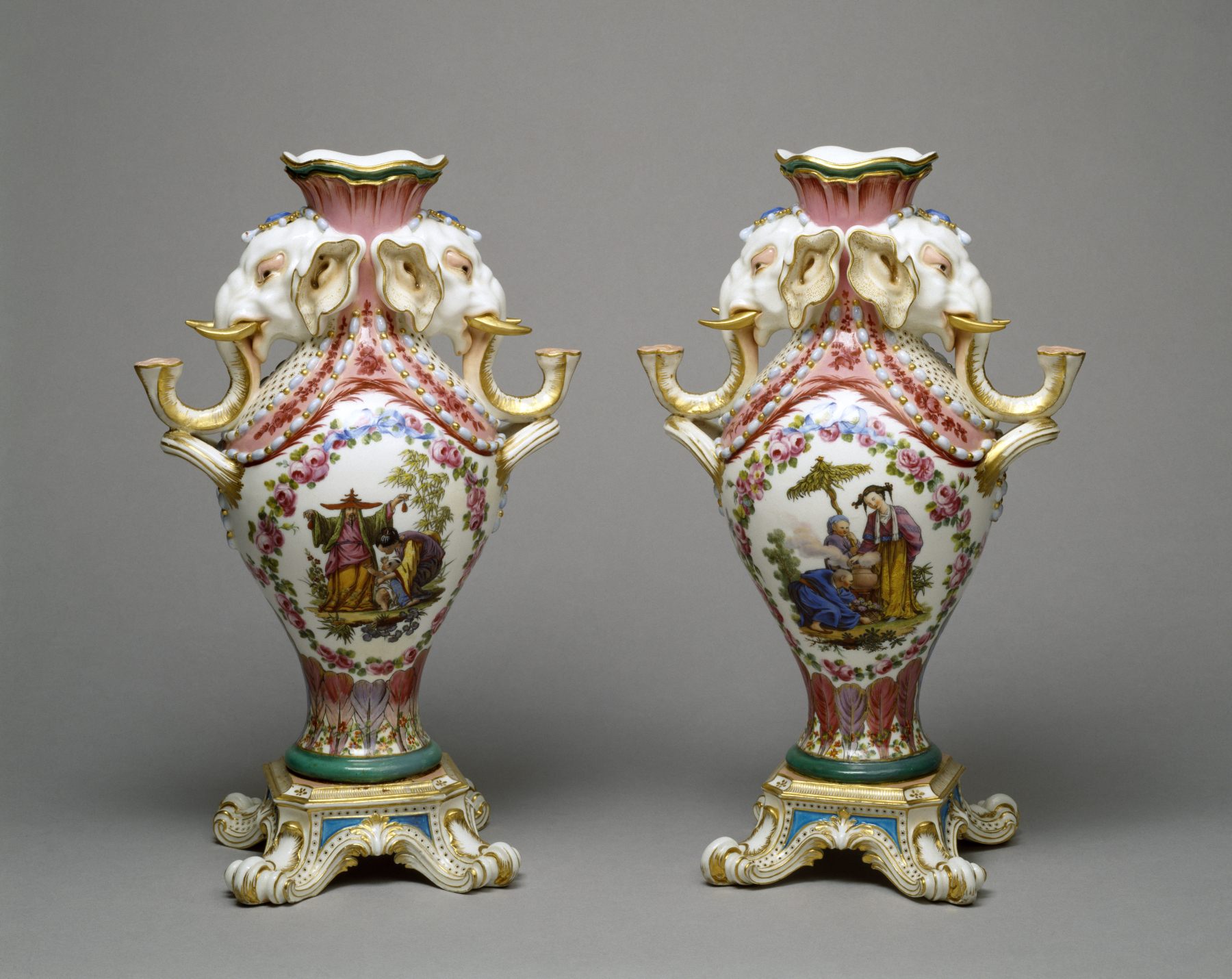 Hand Painted Royal Satsuma Porcelaine Cendrier