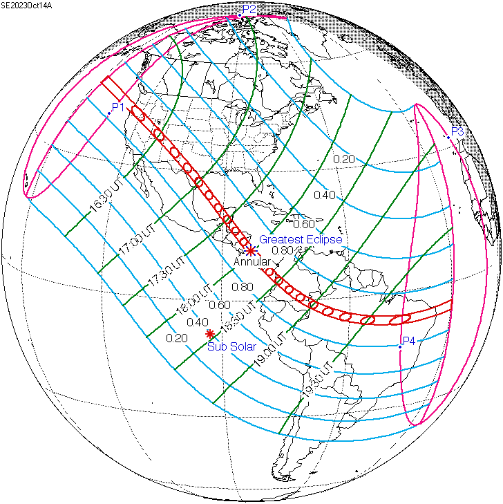 Current Eclipse Map.Solar Eclipse Of October 14 2023 Wikipedia