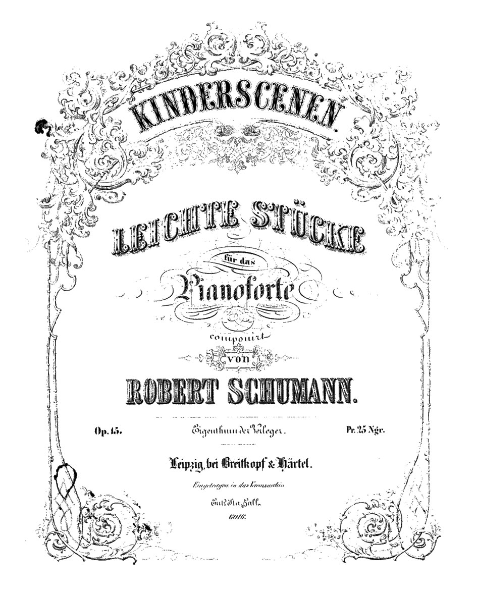 schumann and the kinderszenen It is summer time, and rather than present my usual type of post, i am planning something a little different for the next few weeks the first is a selection of.
