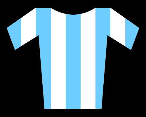Blue Shirt With Aztec Design