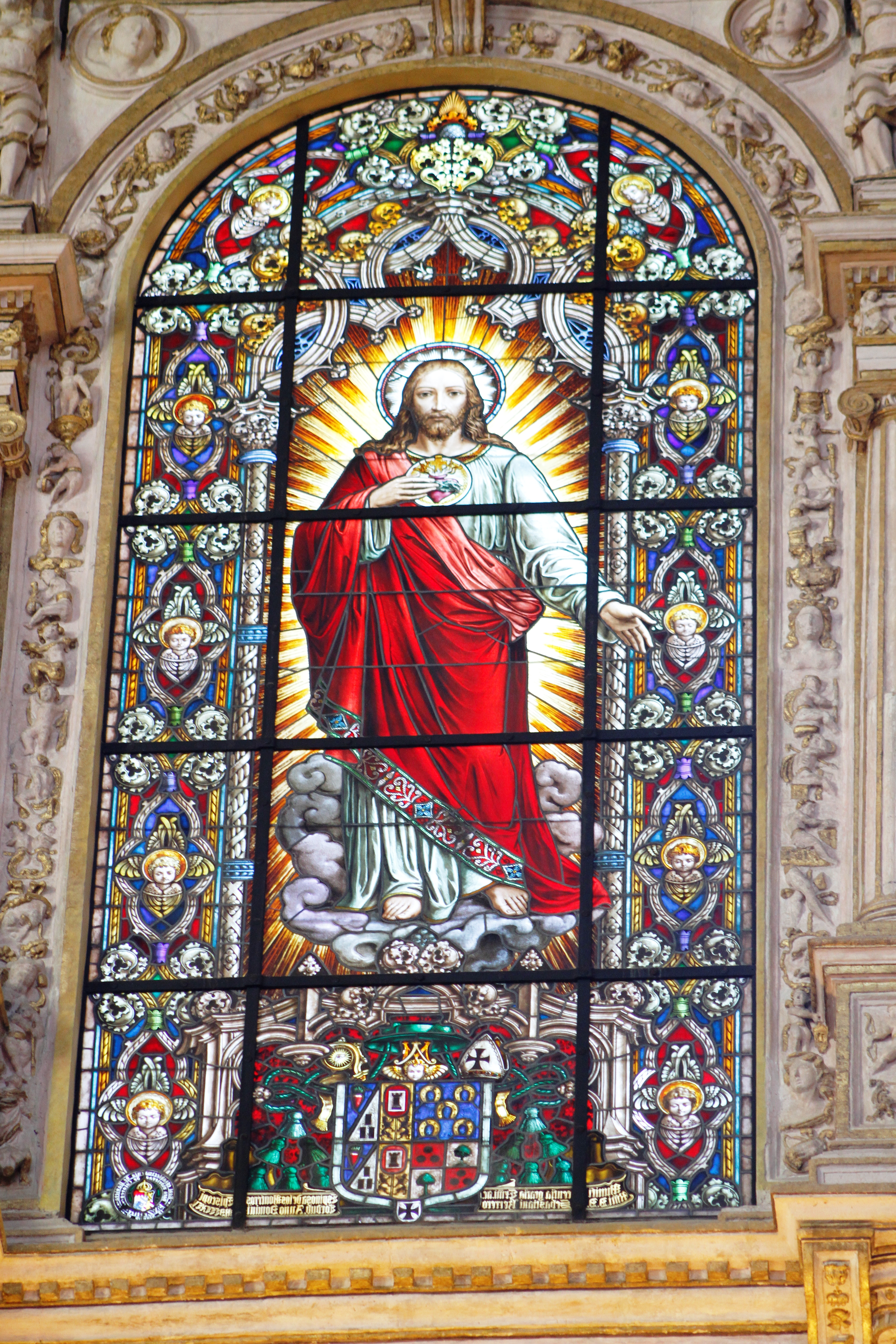 FileStained Glass Window Of The Sacred Heart Jesus Christ