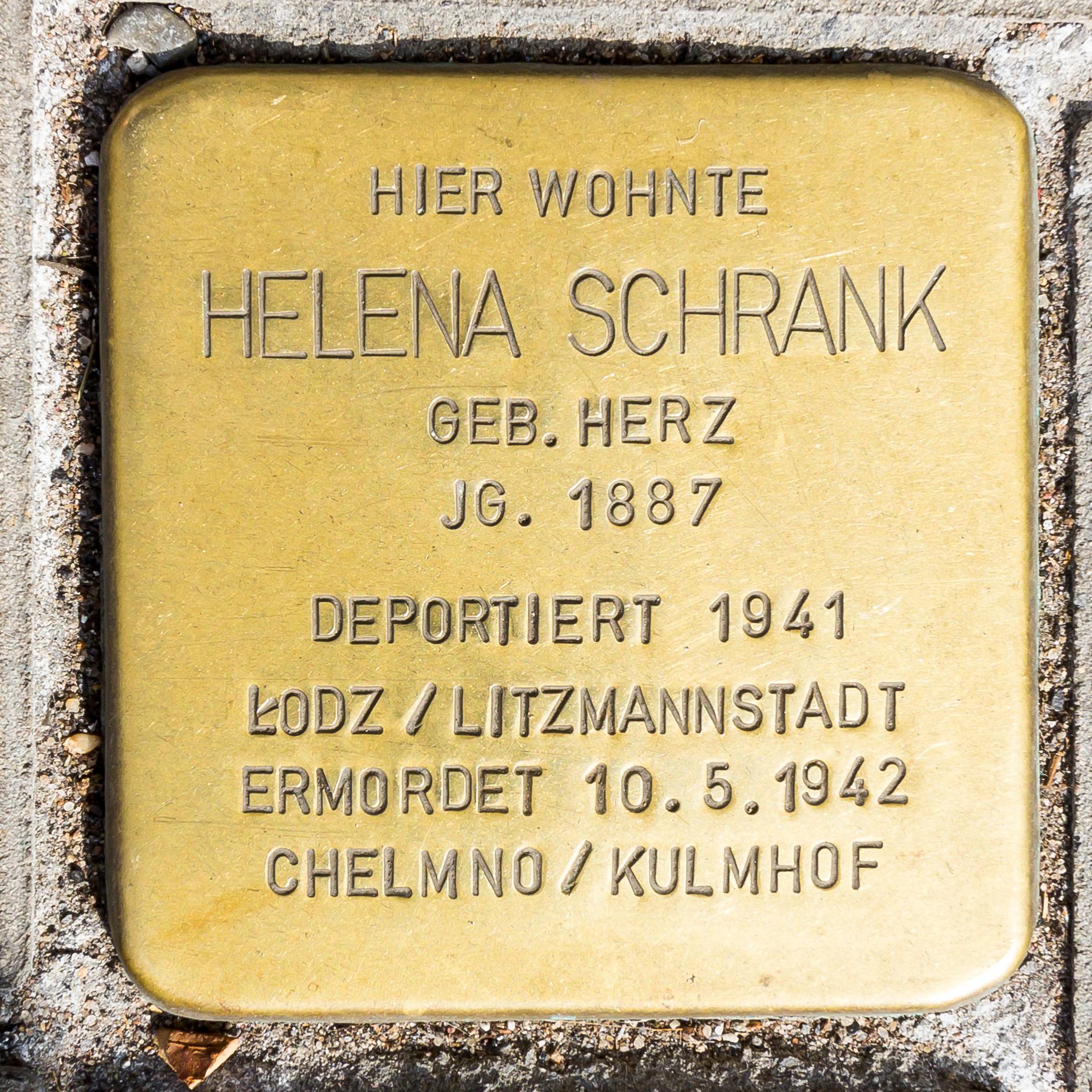 File Stolperstein Helena Schrank Subbelrather Strasse 130 Koln 7728