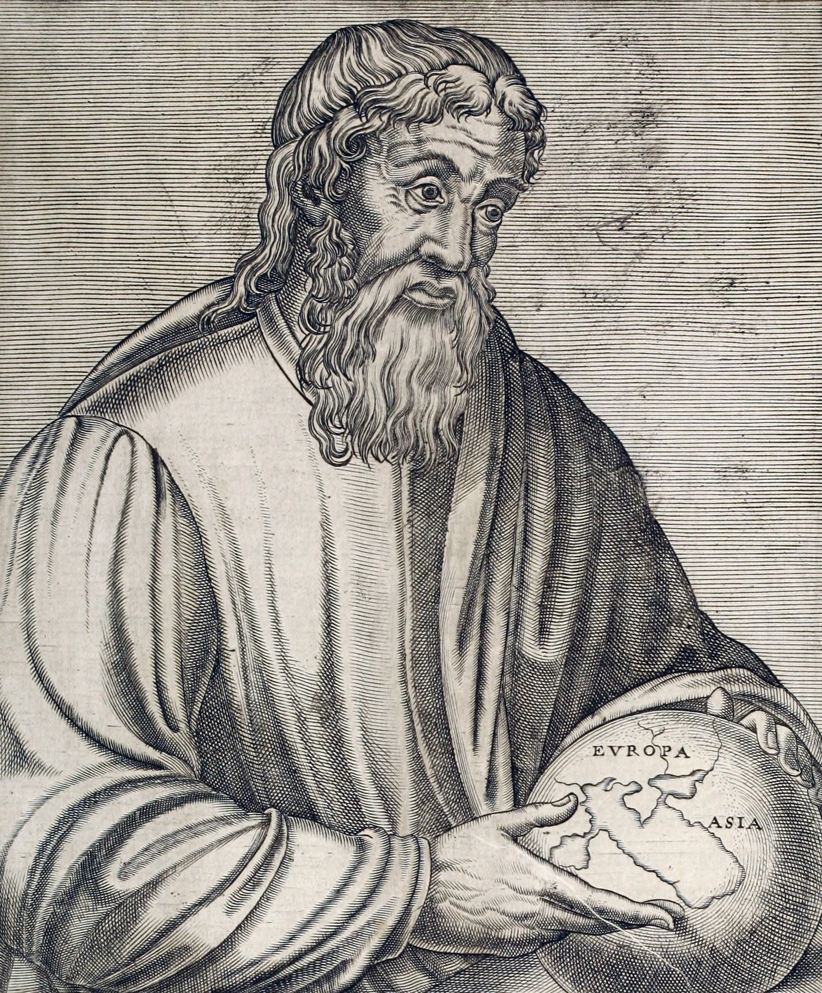 Strabo as depicted in a 16th-century engraving