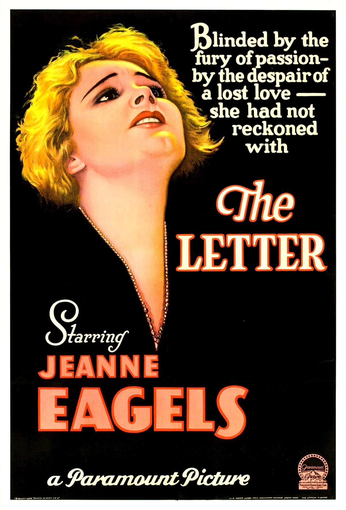 movies that start with the letter e the letter 1929 12239 | The Letter poster 1929