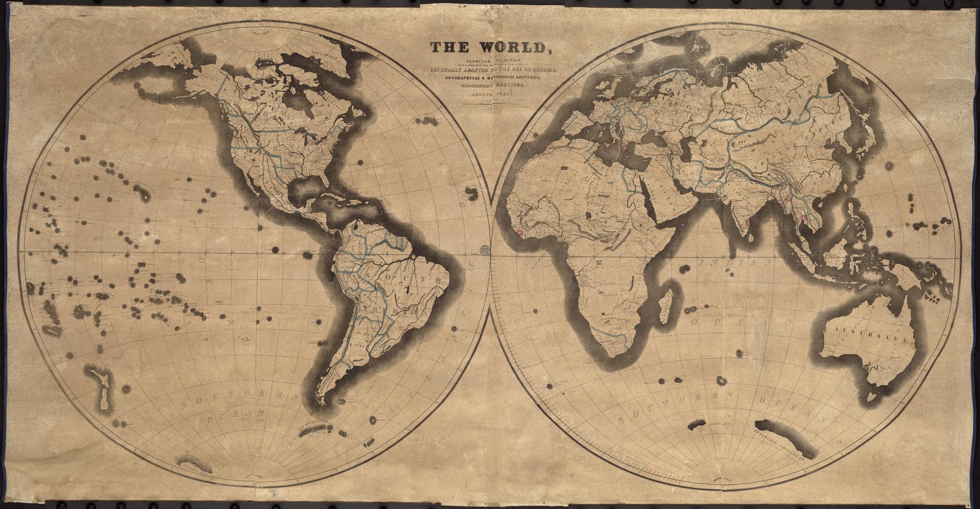 FileThe World On The Globular Projection With A Graduation For - Us Map Globular Projection