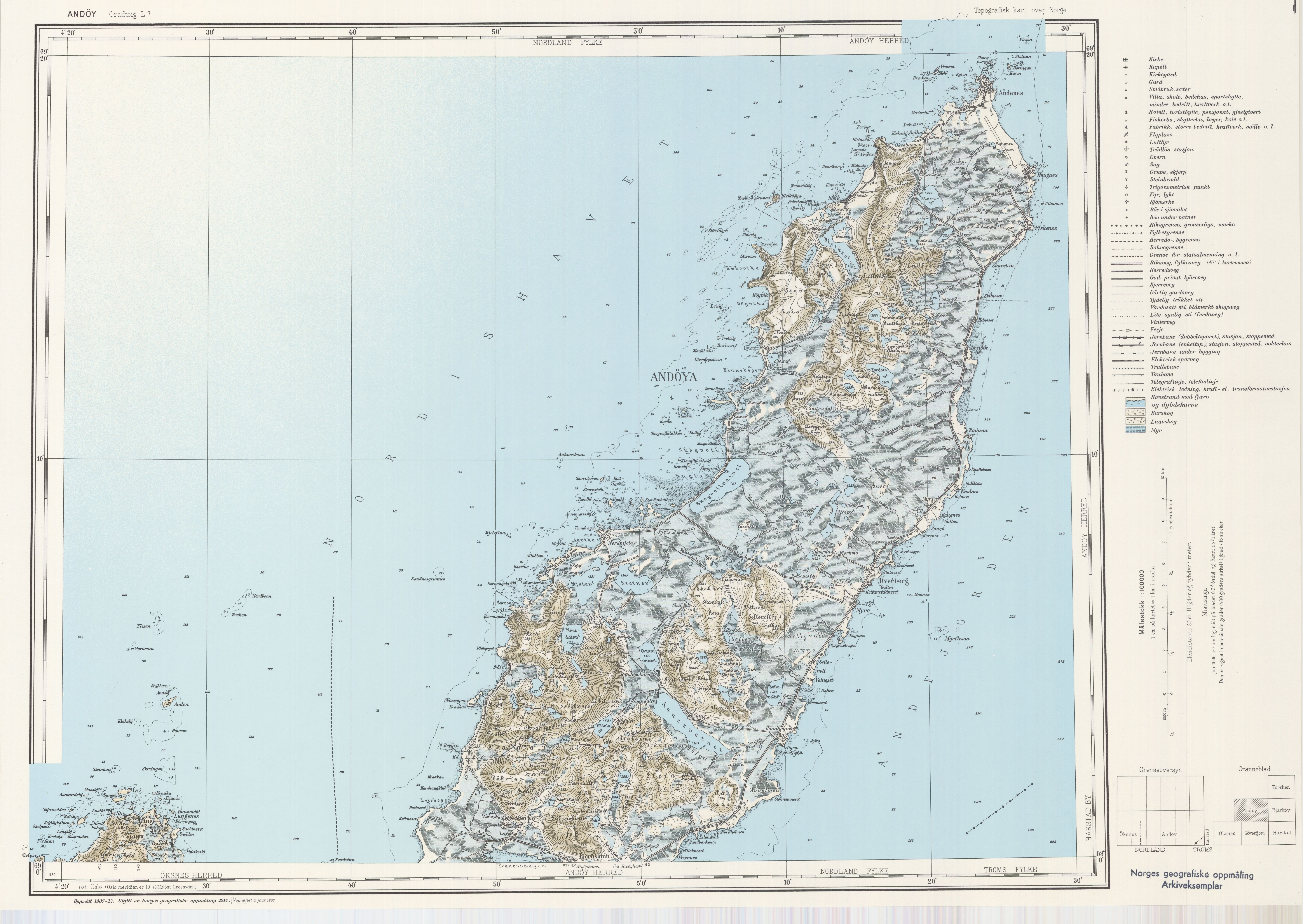 Topographic Map Of Norway.File Topographic Map Of Norway L7 Andoya 1967 Jpg Wikimedia Commons