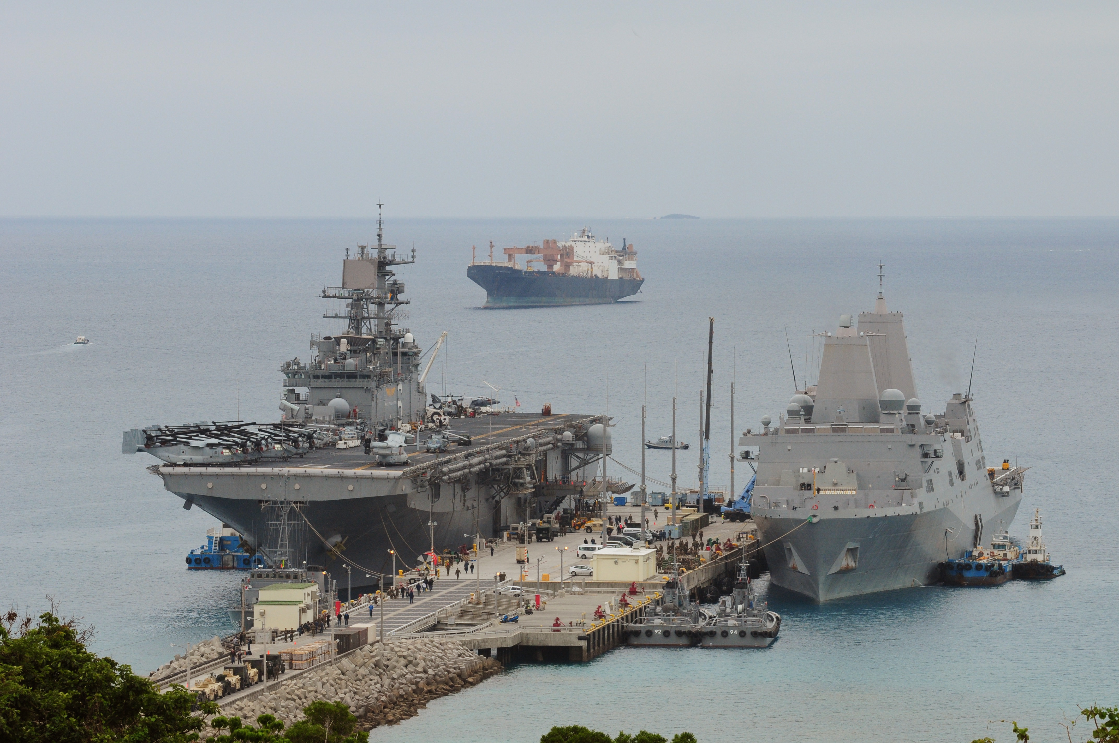 File U S Navy Ships Are Docked At White Beach Naval Facility Okinawa