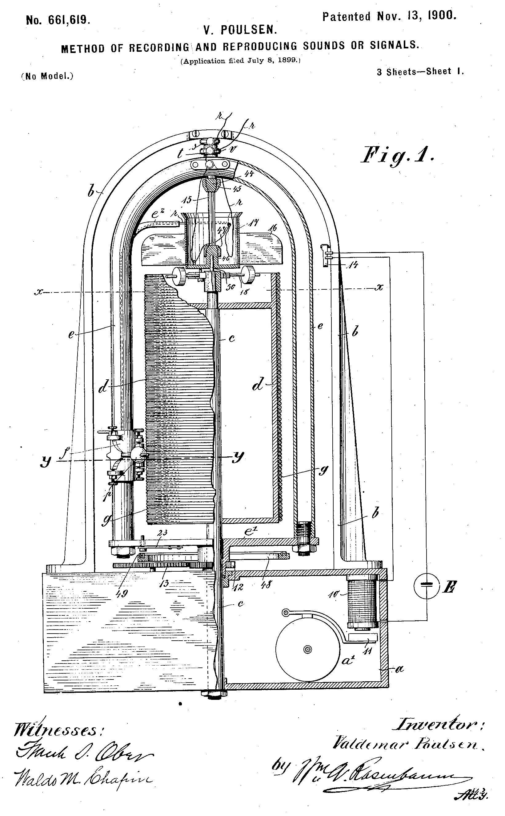 file us patent 661 619 - magnetic recorder jpg