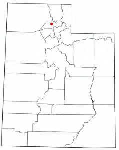 Location of North Ogden, Utah