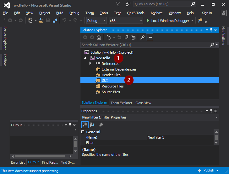 Visual Studio 2015 adding new filter.png