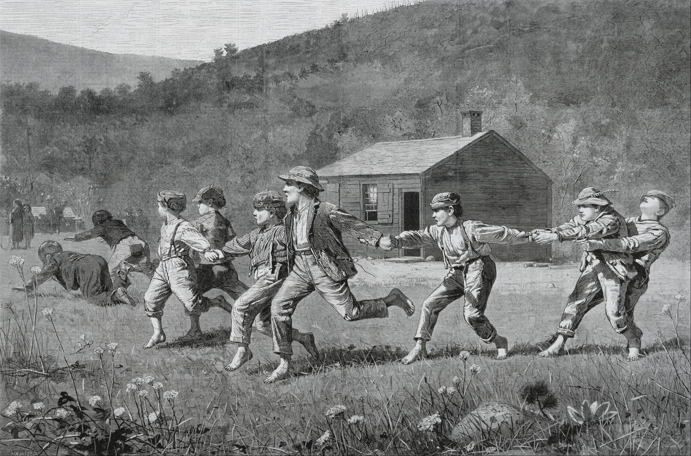 analysis of the painting snap the whip by winslow homer Winslow homer in his art   winslow homer is deeply invested in his art, consciously  dence marks several of homer's early works, such as snap the whip.