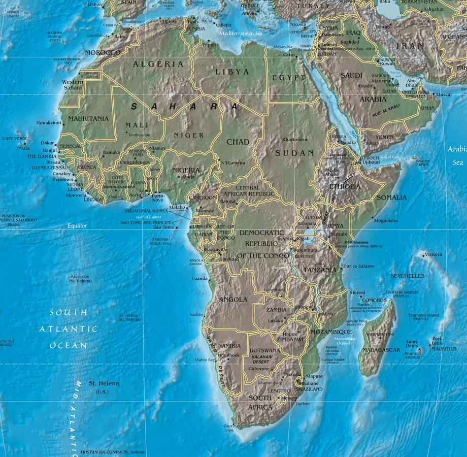 FileWorldmapciafactbooklargem DetailAfricajpg - Map of the world in detail