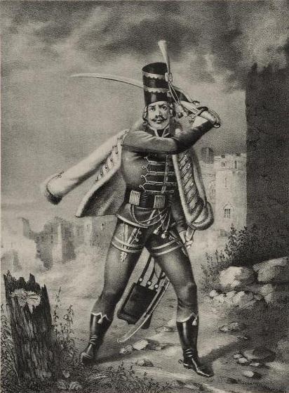 Рядовой Бахмутского Гусарского полка, с 1764 по 1774 г
