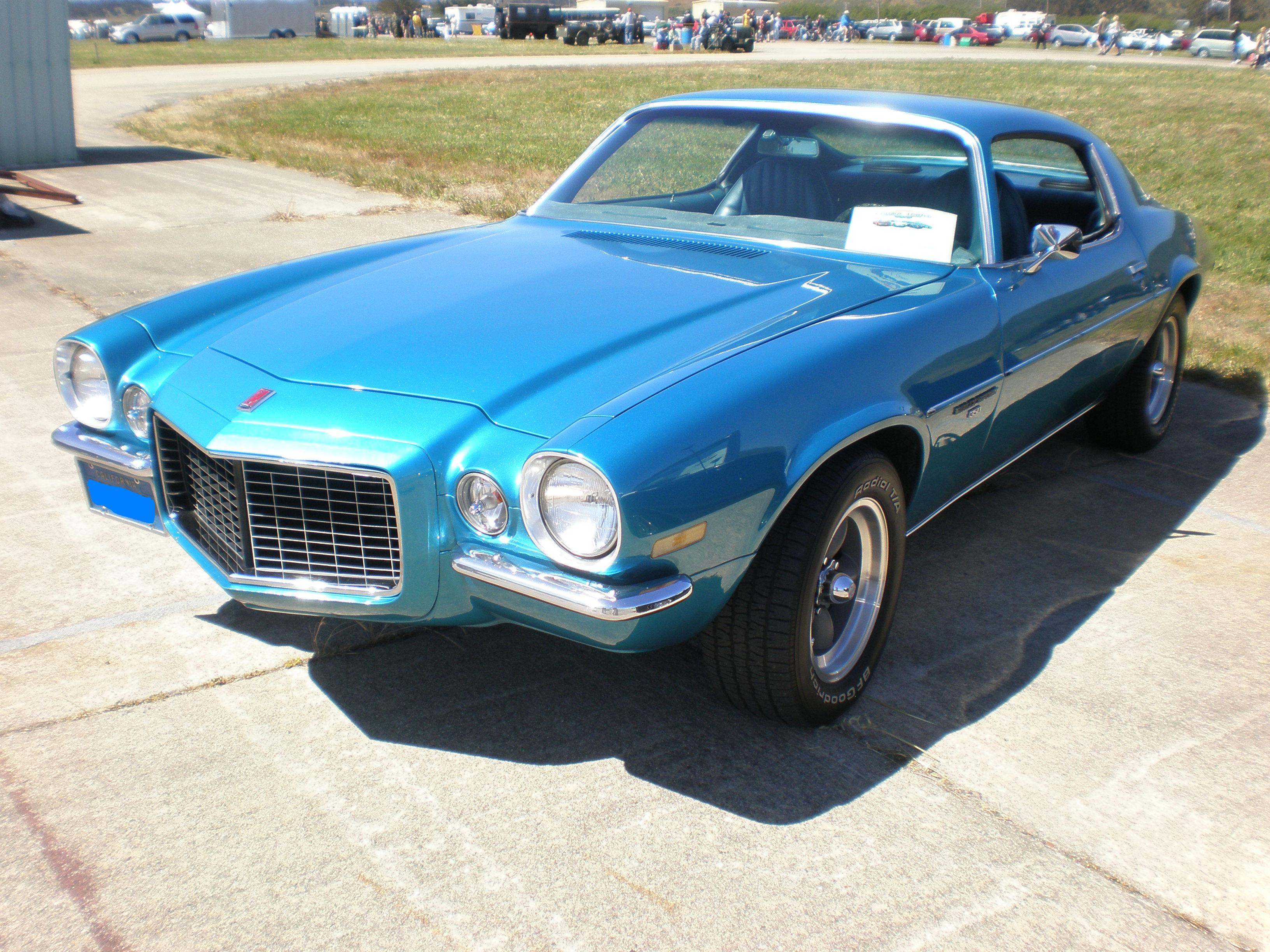 File 1972 Blue Chevrolet Camaro Turbo 350 Front Side Jpg