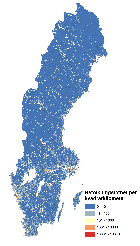 File Sweden Population Densitysvpng Wikimedia Commons - Sweden map population density