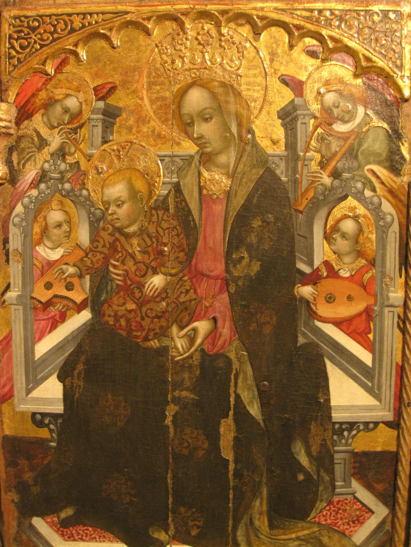 File:238 Museu Diocesà, capella del Corpus Christi, retaule de marededéu.jpg ...