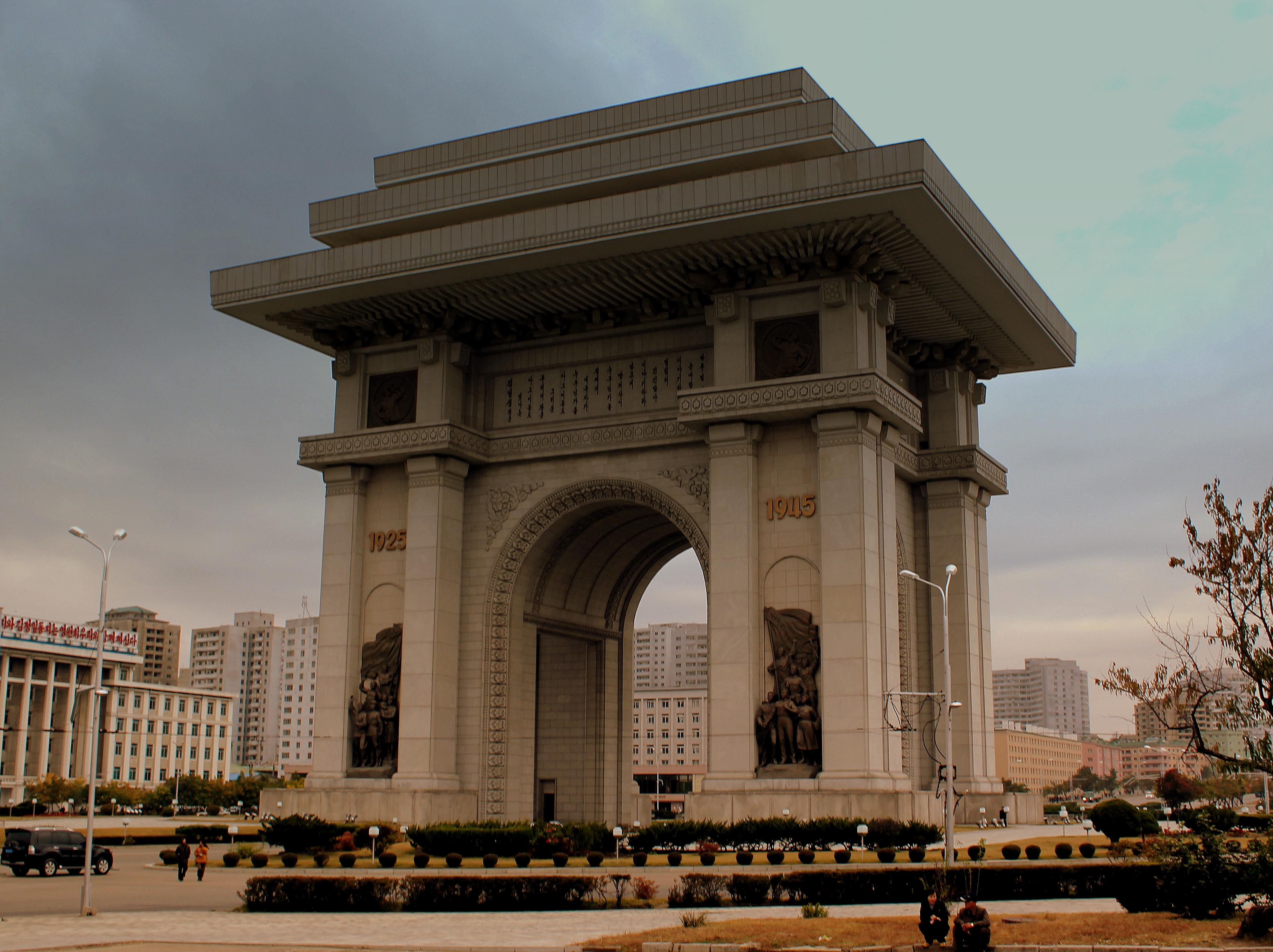 file:arch of triumph pyongyang city dpr korea oct 2012 (8166213131