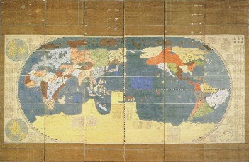 A Map of the Myriad Countries of the World, Japan, 1602