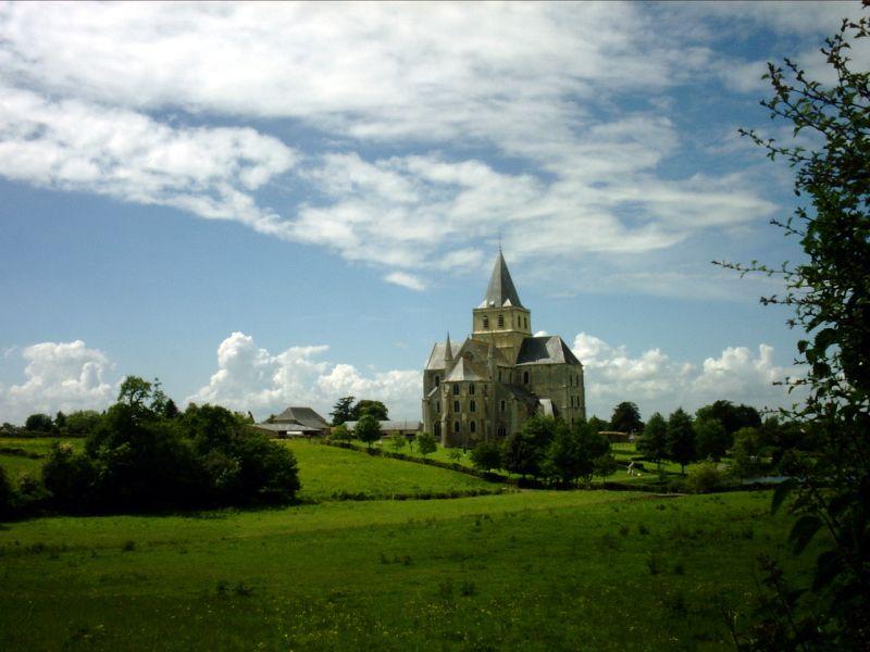 Abbaye de Cerisy-la-forêt, Manche, Normandie, France.