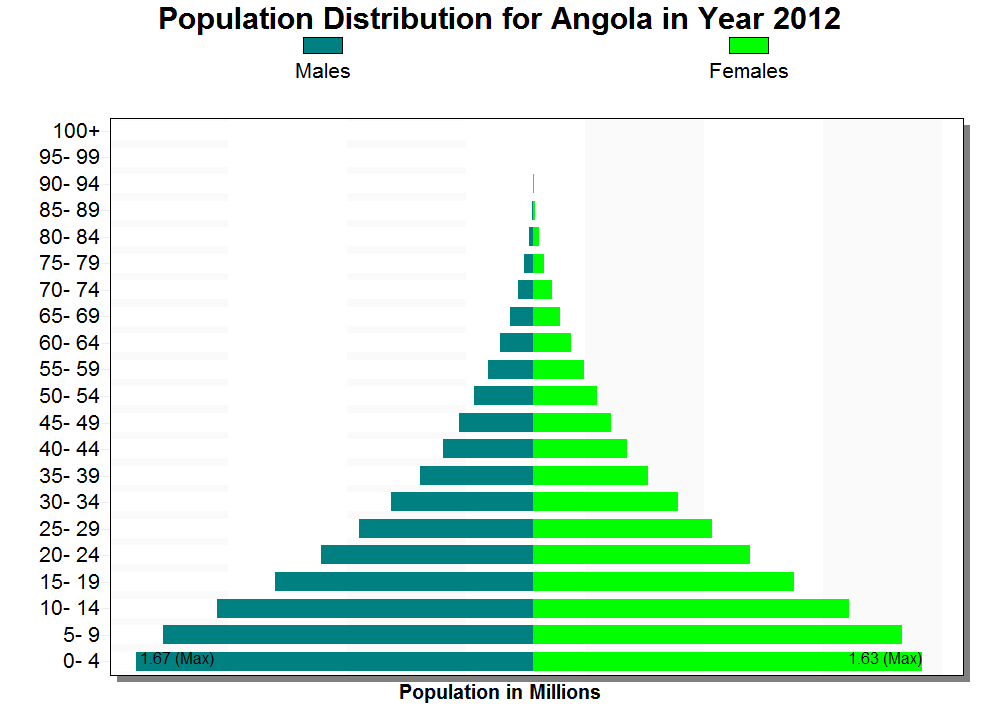 population pyramid The world's best population pyramid covering 100 years of age and sex distribution for every country in the world.
