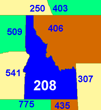 Area codes 208 and 986 Wikipedia
