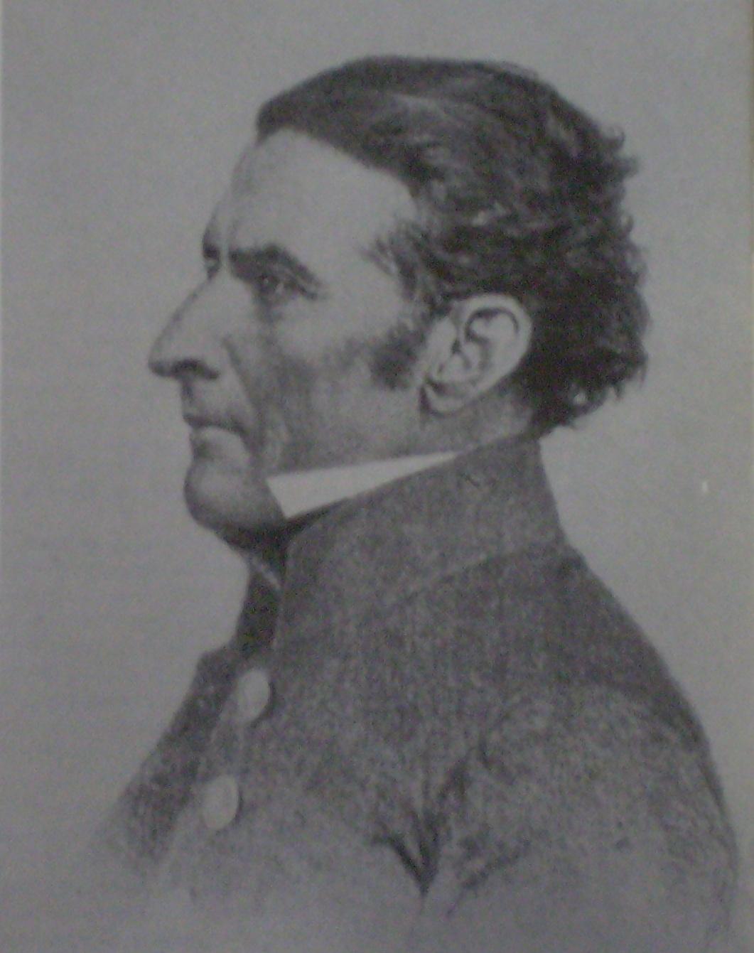 José Artigas. Dibujo de J. M. Blanes.