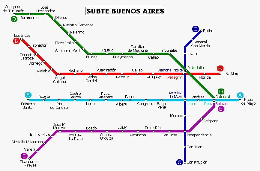 FileBuenos Aires Metro Mappng Wikimedia Commons - Argentina subte map