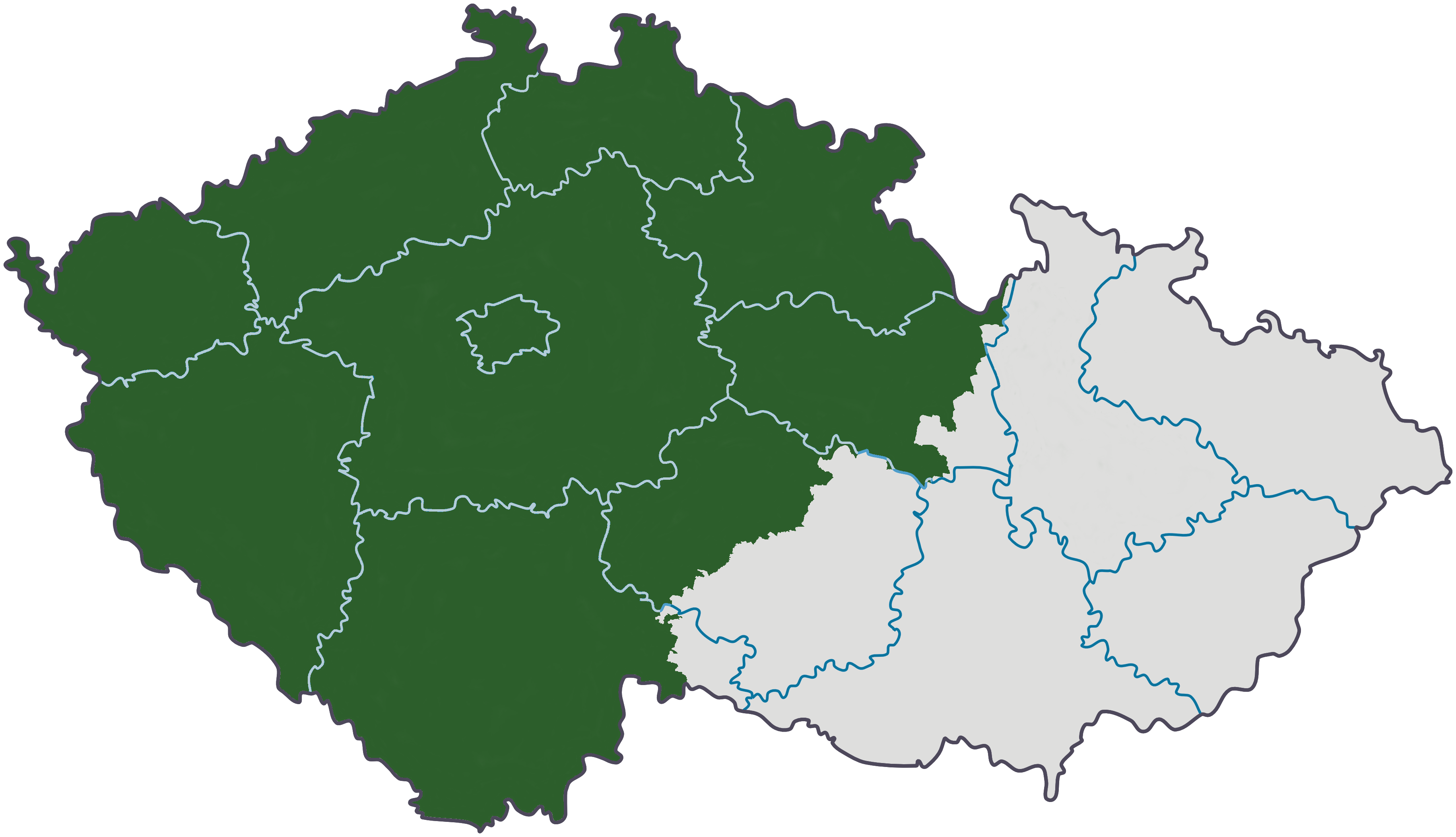 Bohemia green in relation to the current