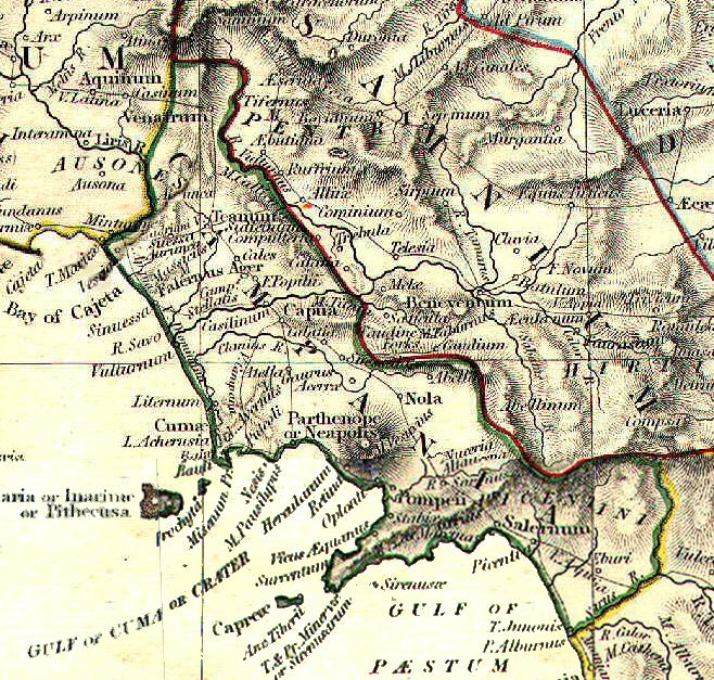 Mappa dell'antica Campania Felix
