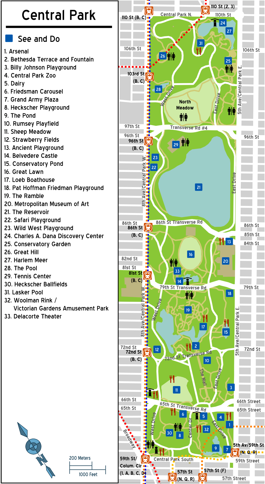 Central Park New York Map Pdf.Map Central Park Www Naturalrugs Store