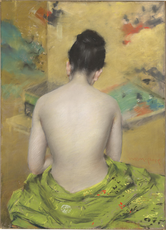 Mujer de espaldas de William Merritt Chase
