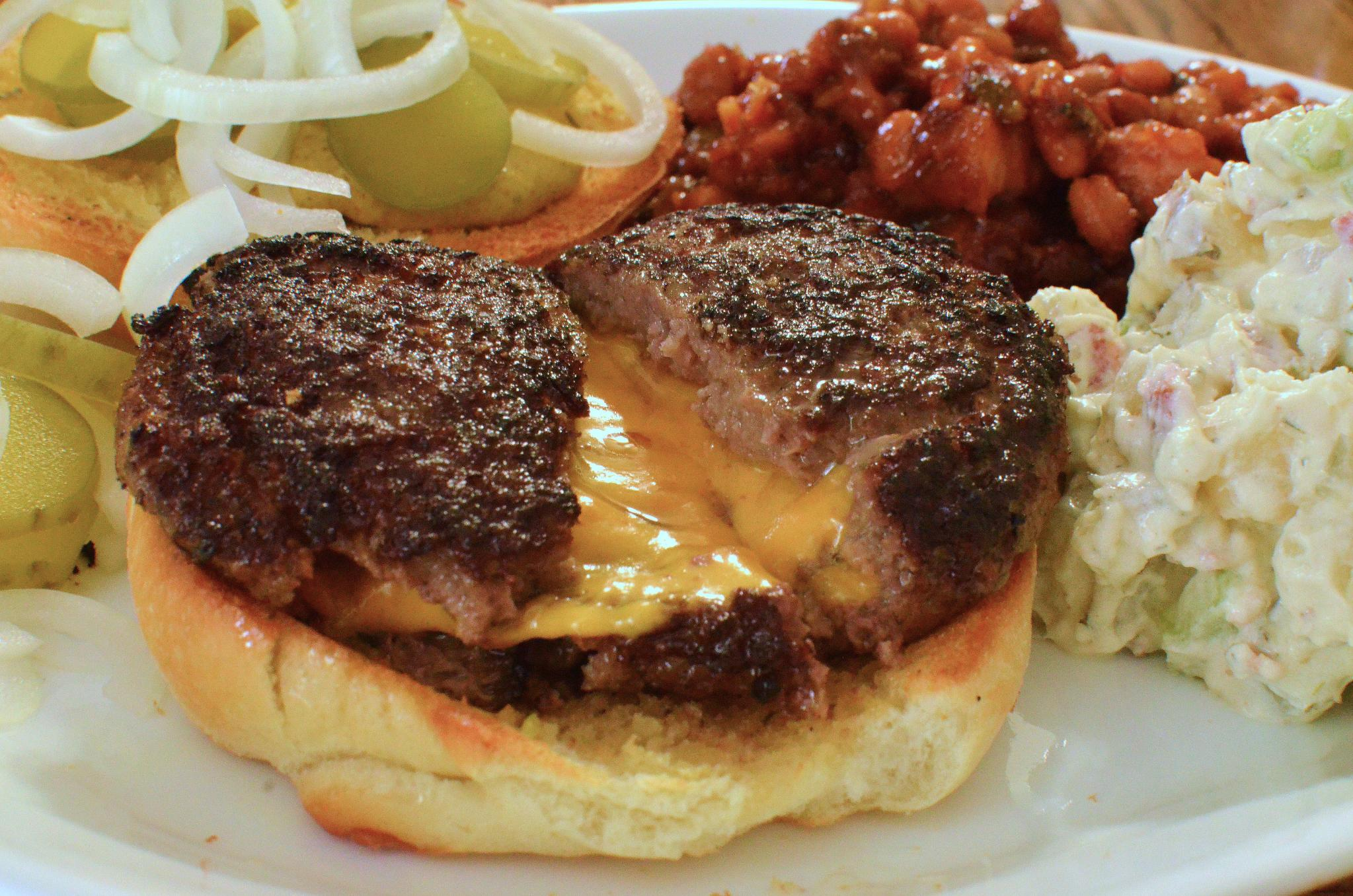 bacon cheese burgers