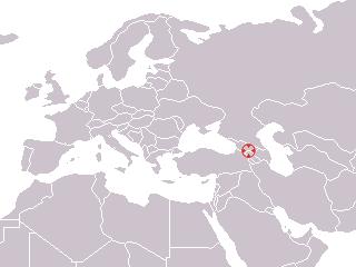 Dmanissi, Georgia ; Homo georgicus 1999 discovery map.png