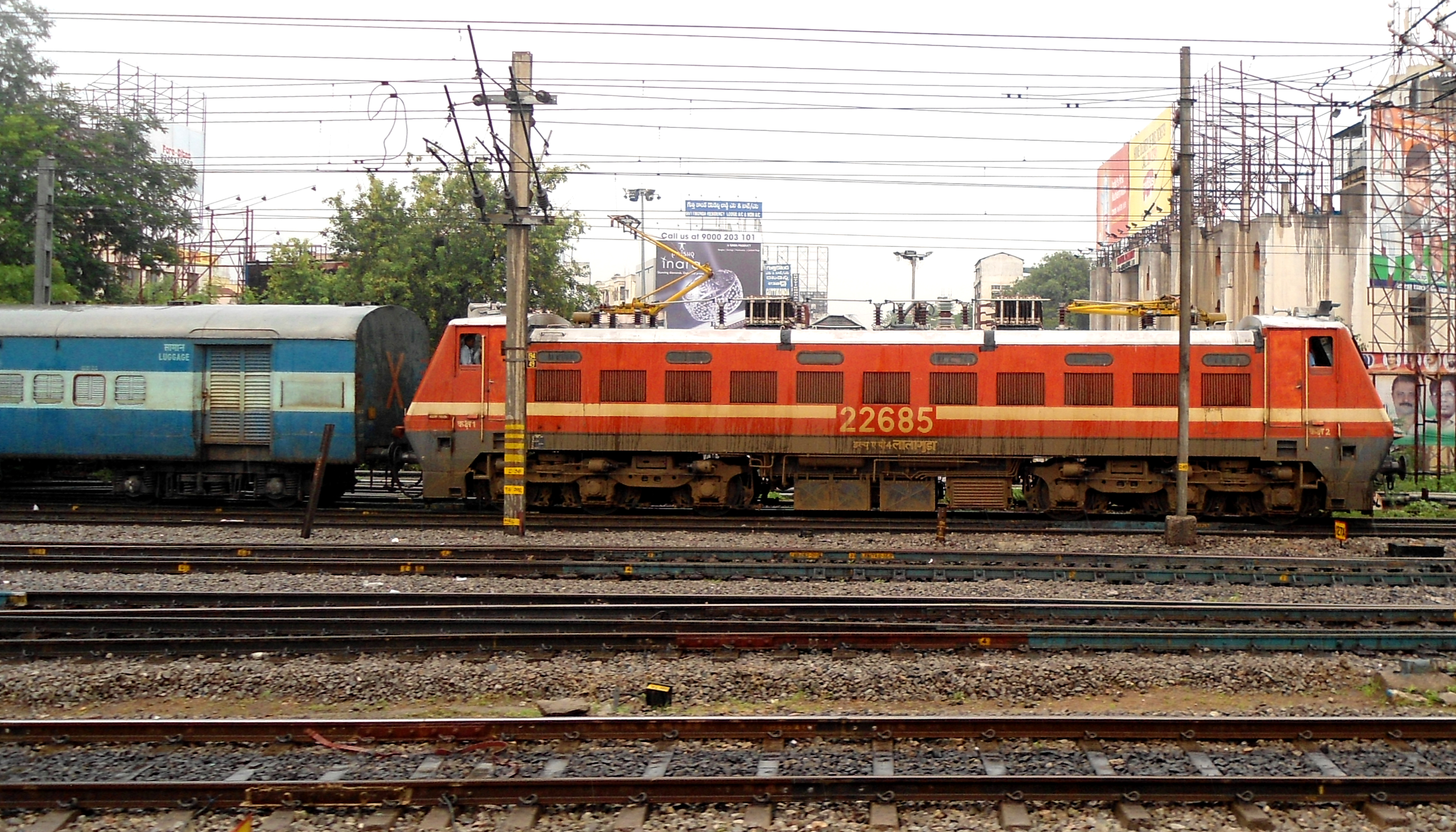 LGD shed WAP 4 with East Coast Express Мобильные
