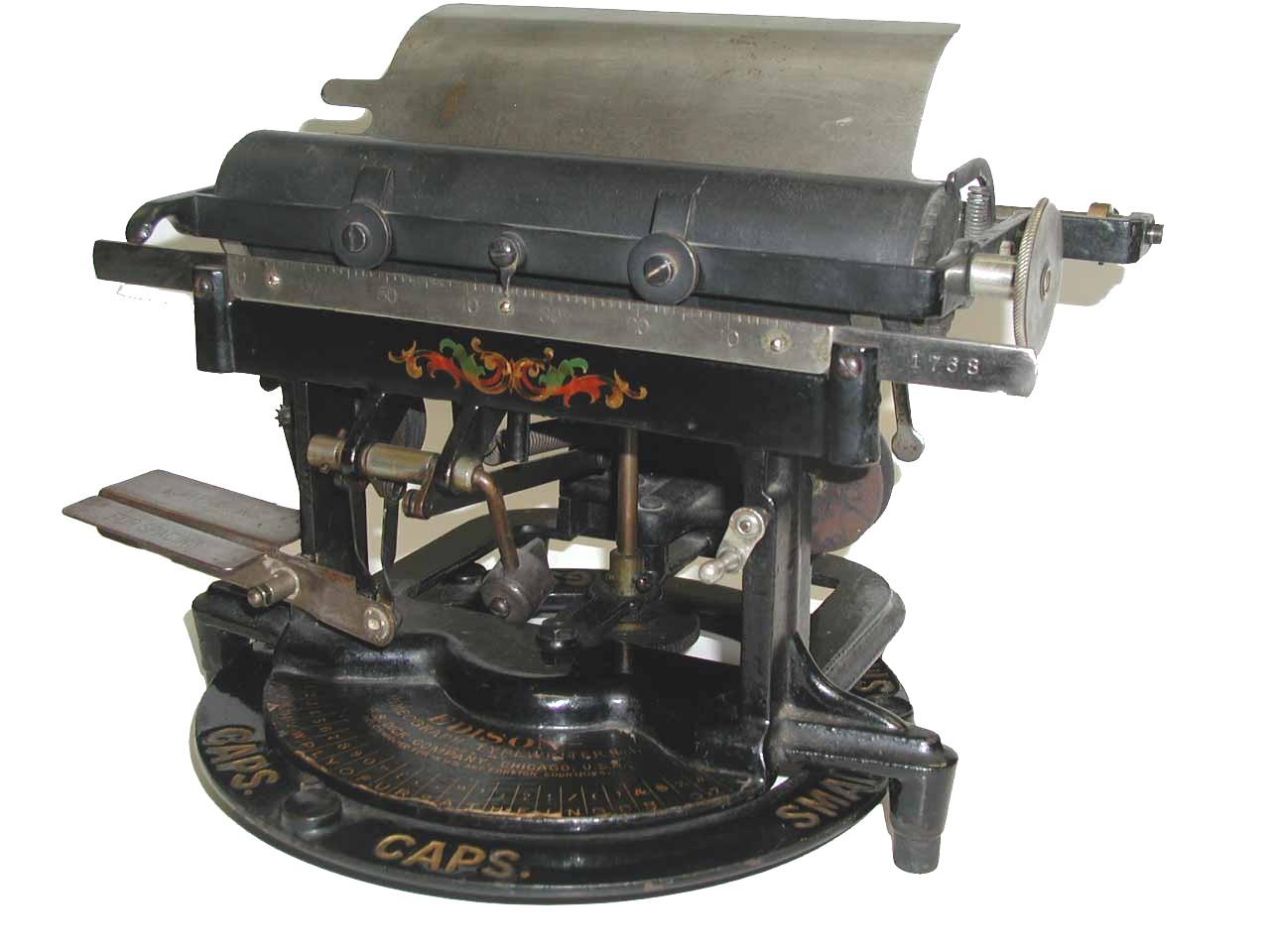 File Edisonmimeographtypewriter Jpg Wikimedia Commons
