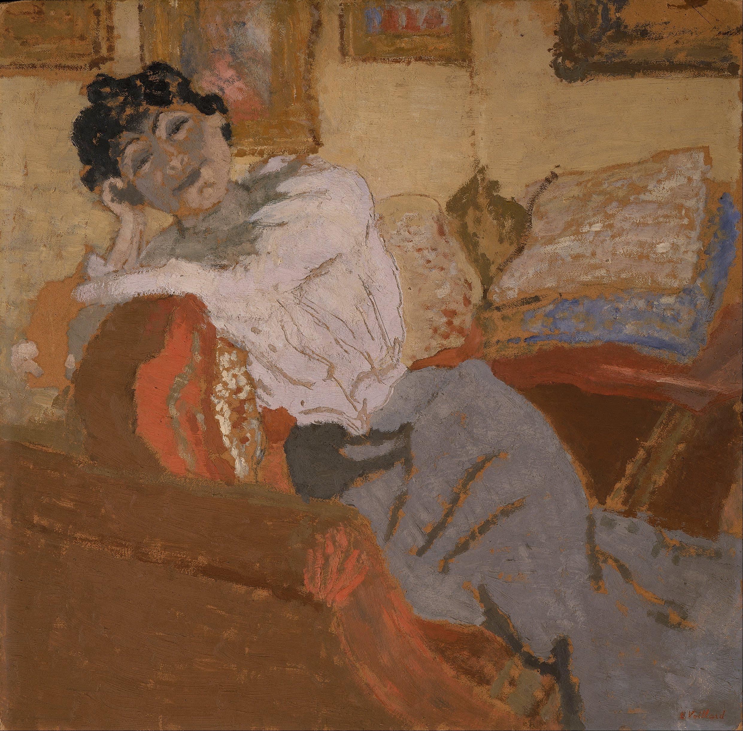 Édouard Vuillard, Madame Hessel au Sofa (Madame Hessel on the Sofa)