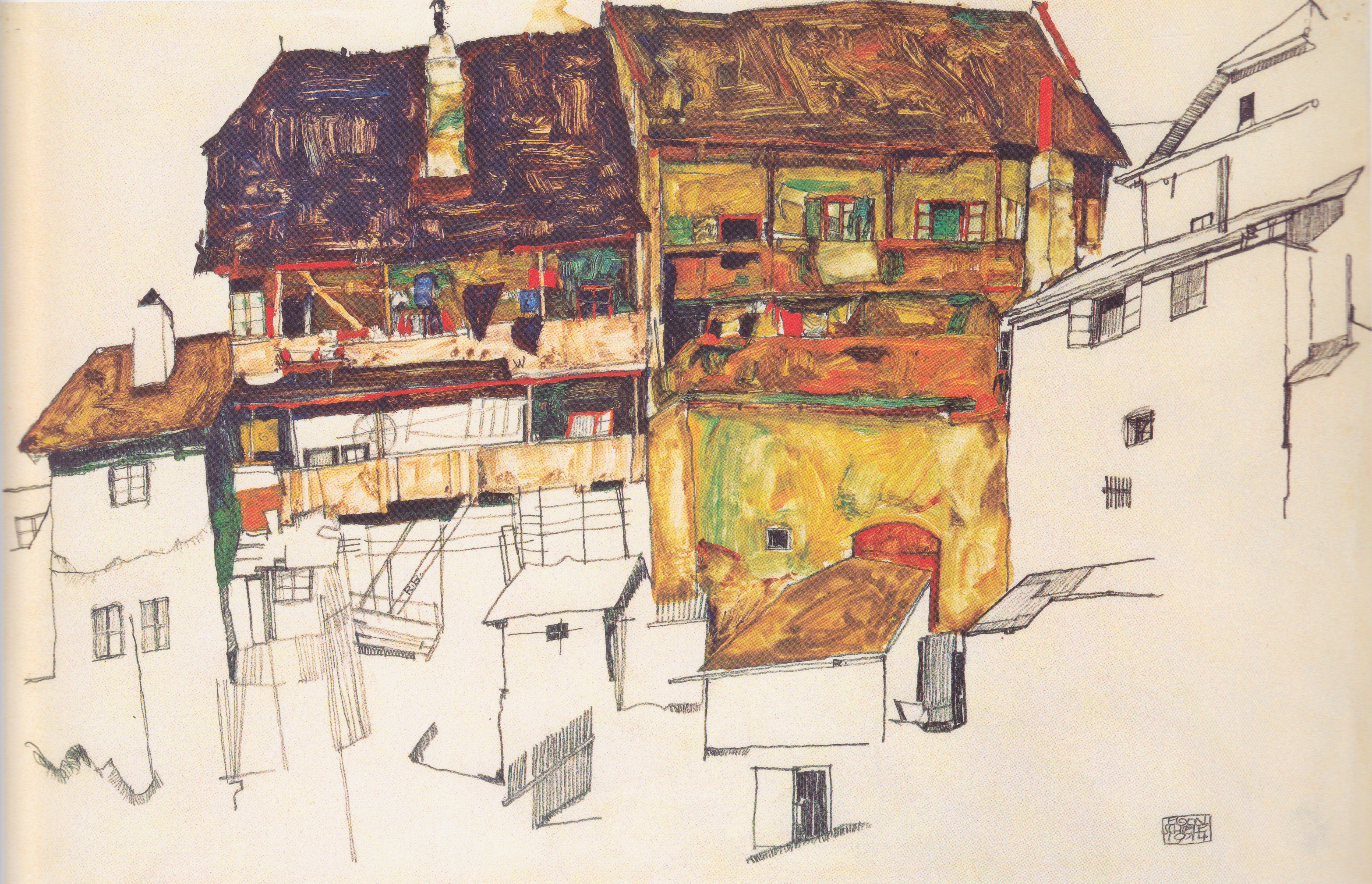 Häuser In file egon schiele alte häuser in krumau 1914 jpeg wikimedia