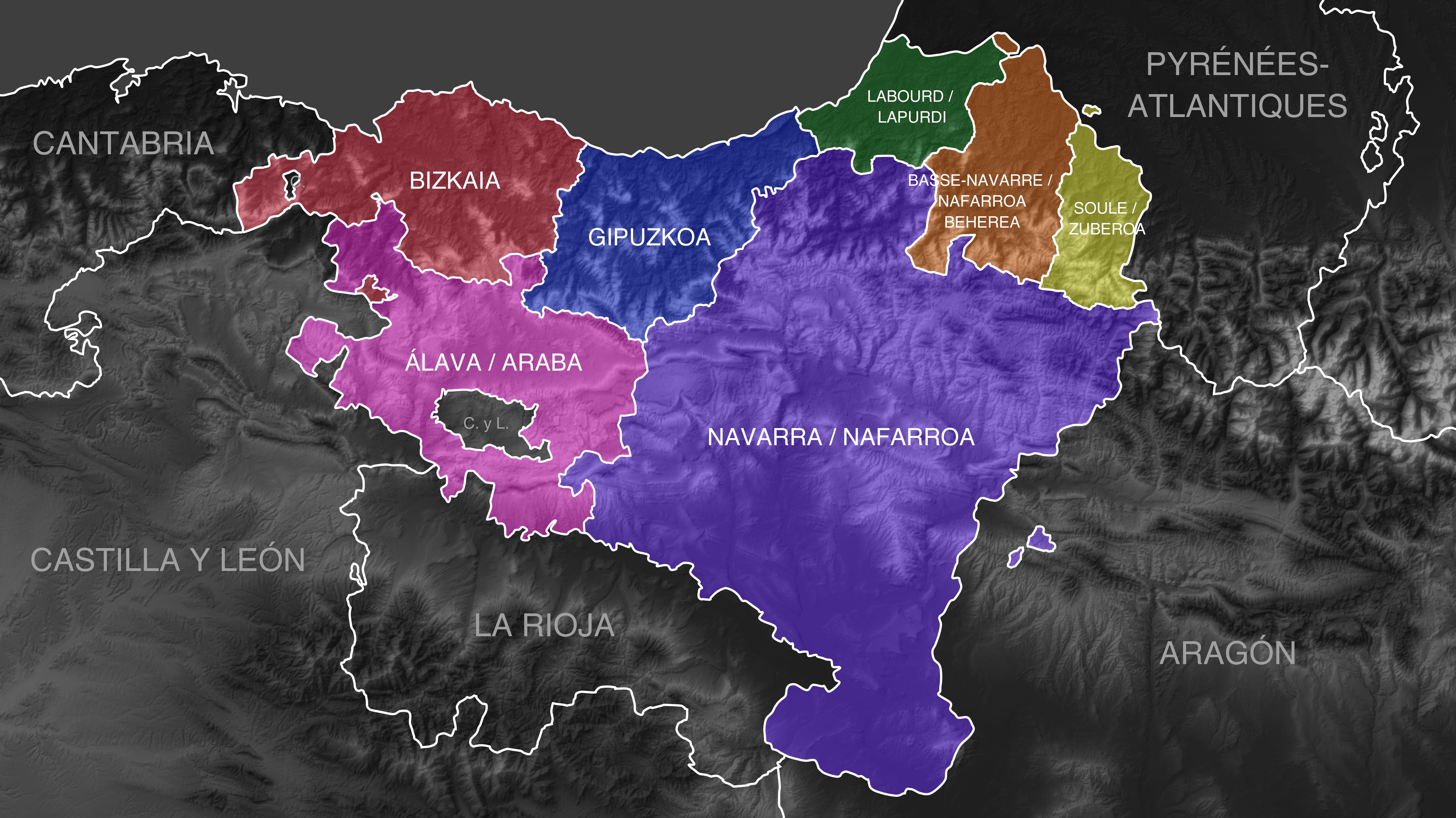 Euskal Herriko Mapa Politikoa.Fitxategi Euskal Herria Politico Politikoa Png