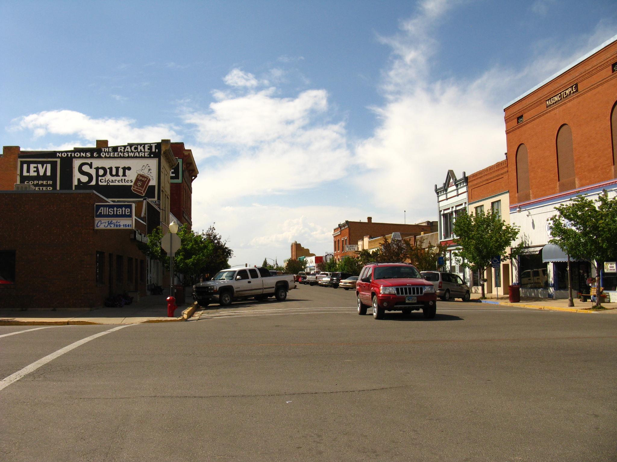 File Evanston Wyoming Downtown Jpg Wikimedia Commons
