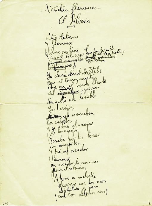 Archivofederico Garcia Lorca Pagina Manuscrita De Vinetas