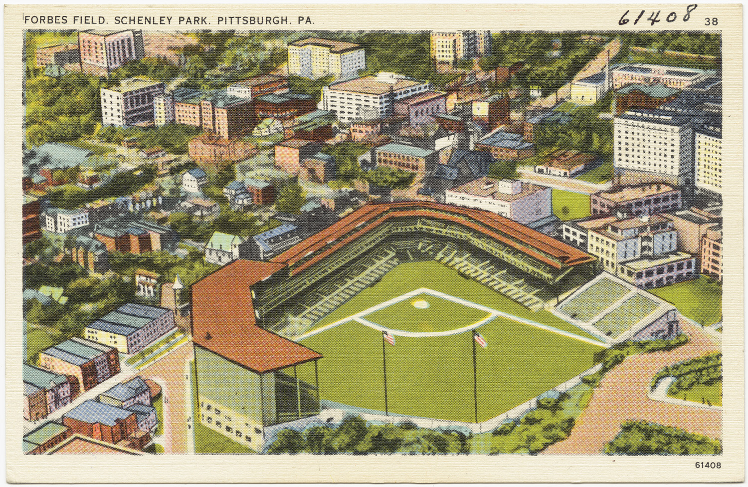 Forbes Field Schenley Park Pittsburgh C Pa