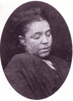 Mortuary photograph of Frances Coles