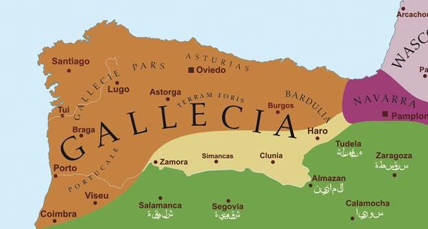 LA ESPAÑA  DE LOS MEDIEVALES  Galicia891