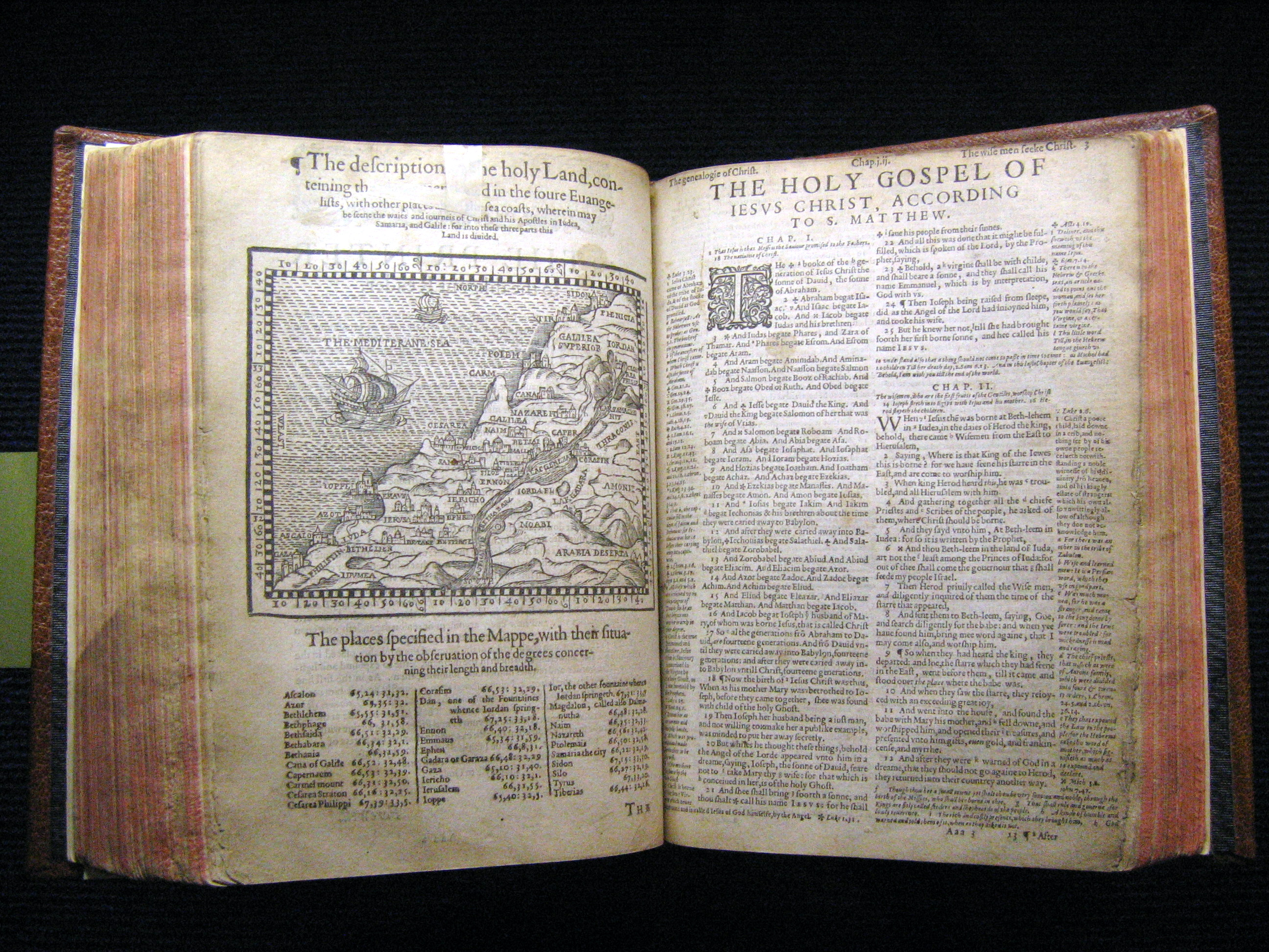 Pages from the 1540 Geneva Bible