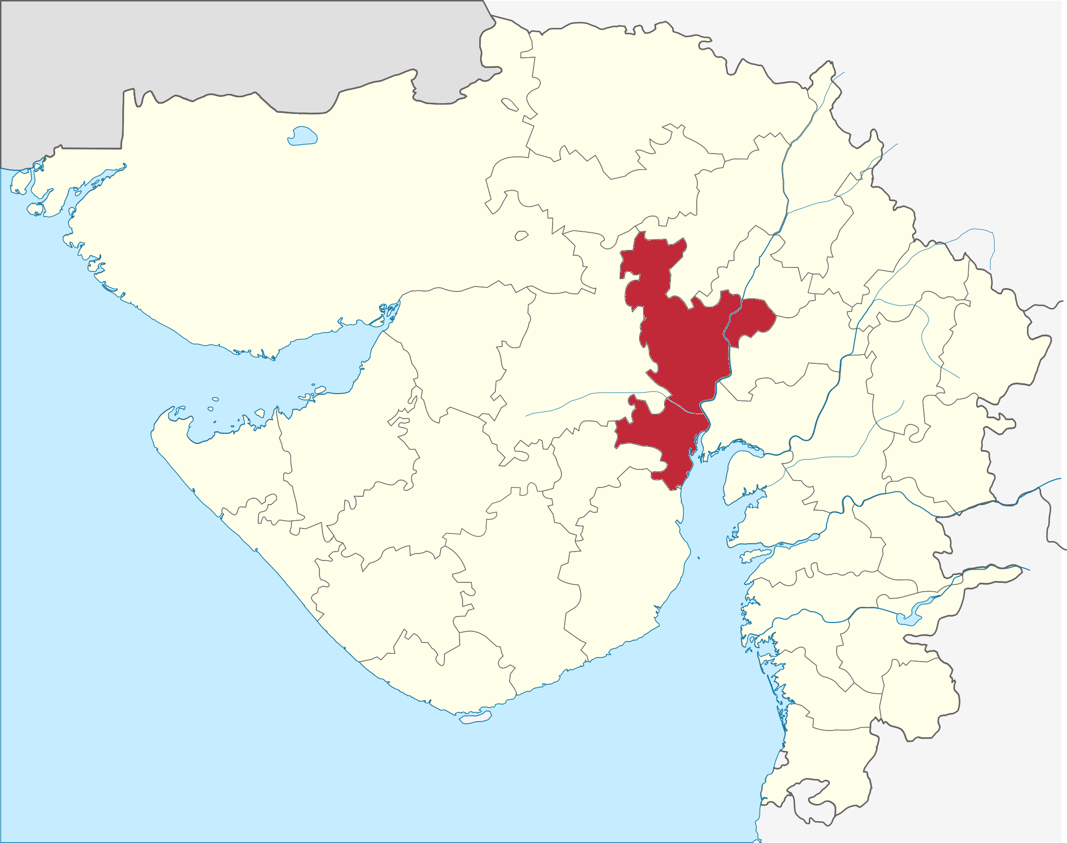 Ahmedabad India  city pictures gallery : Ahmedabad In India Map